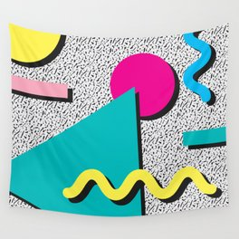 Abstract 1980's Wall Tapestry