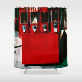Red Jack's Market Candy Shower Curtain