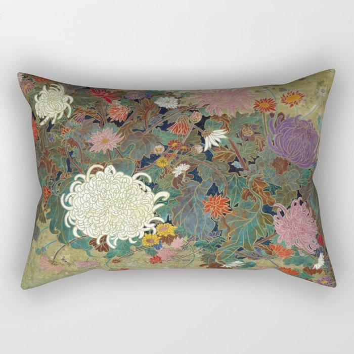 flower【Japanese painting】 Rectangular Pillow