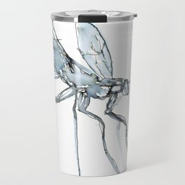 Mosquito, Watercolor Travel Mug