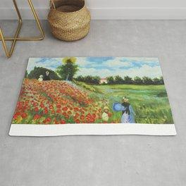 Claude Monet - Poppy Field at Argenteuil Rug