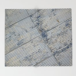 Warehouse District -- Rustic Farm Chic Abstract Throw Blanket