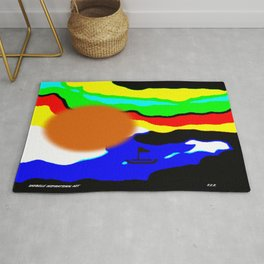 Life abstract by Saribelle Rodriguez Rug