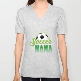 Soccer Nana Unisex V-Neck