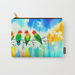 Lovebirds on a branch Carry-All Pouch