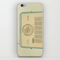 radio iPhone & iPod Skins featuring Radio Days by Cassia Beck