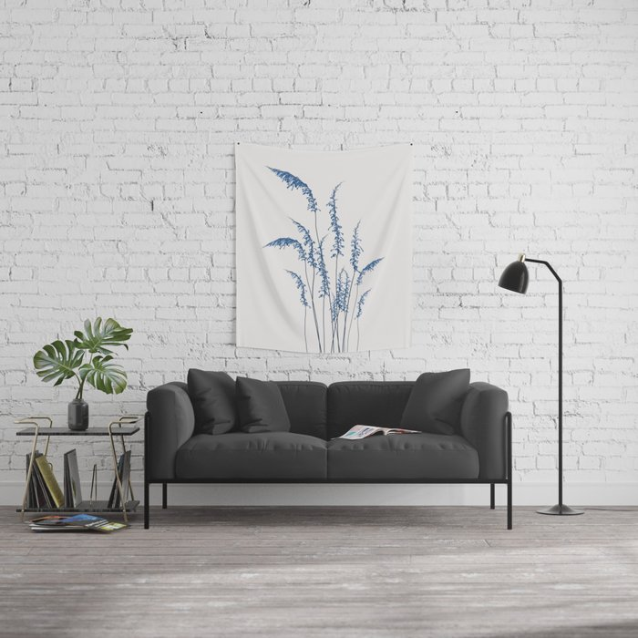 Blue flowers 2 Wall Tapestry