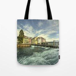 Weir of Lucerne Tote Bag