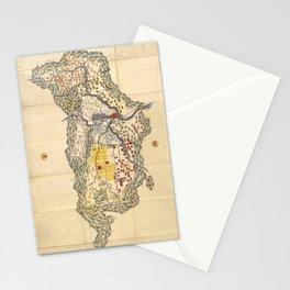 Map of Yamashiro province (with Kyoto), 19th century Japan Stationery Cards