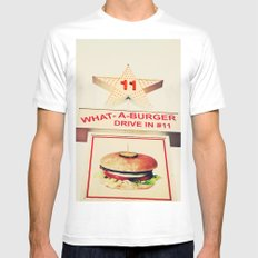 What A Burger Mens Fitted Tee White MEDIUM