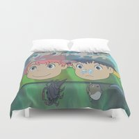 ponyo Duvet Covers featuring Ponyo by Susan Lewis