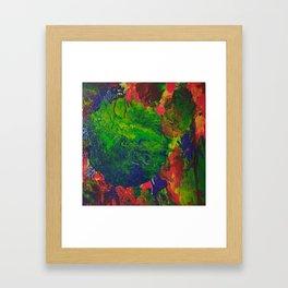 Burning Earth Framed Art Print