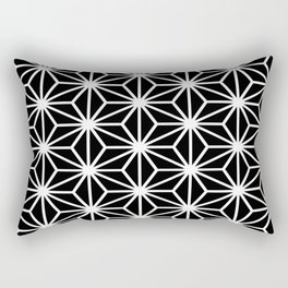 Geometric abstract modern black white stripes Rectangular Pillow