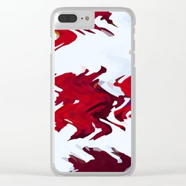 Red Ribbons Clear iPhone Case