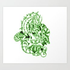 snakes and skulls  Art Print