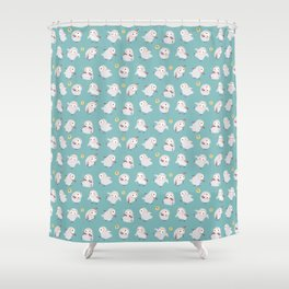 Baby Barn Owls Shower Curtain