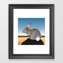 Rabbit Guepard Pattern Framed Art Print