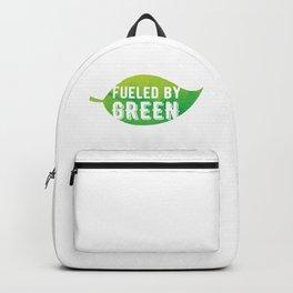 Fueled by Green -  Leaf Print Backpack