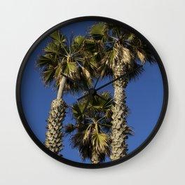 Family of Three Palm Trees Wall Clock