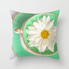 Mint Tea Throw Pillow