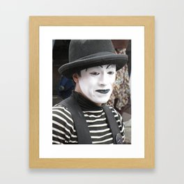 Portrait of a Mime # 2 Framed Art Print