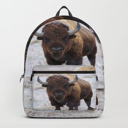 In The Presence Of Bison #society6 #decor #bison by Lena Owens @OLena Art Backpack