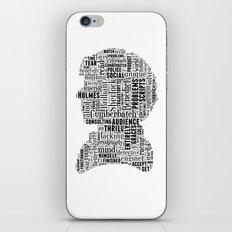 Sherlock BBC Benedict Cumberbatch Typography Silhouette iPhone & iPod Skin