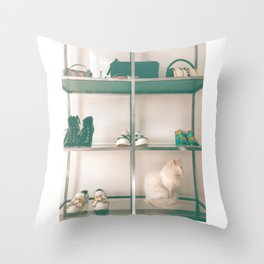 Cats & Heels Throw Pillow