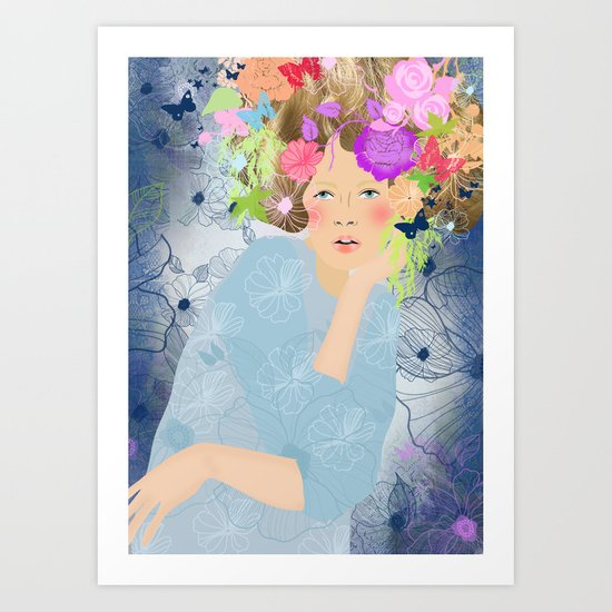 Power of Flower Art Print