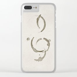 The Treble Clef Clear iPhone Case