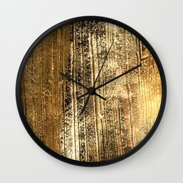 Vintage Reclaimed Honey Gold Wood  Wall Clock