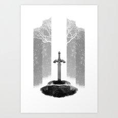 The Legend of Zelda: The Master Sword Art Print