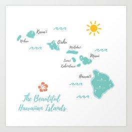 The Hawaiian Islands Art Print