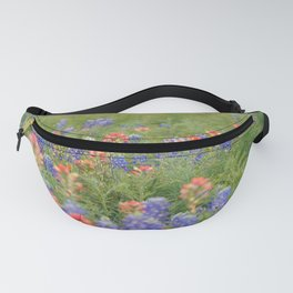 Spring Wildflowers Sunset Silhouetted Fanny Pack