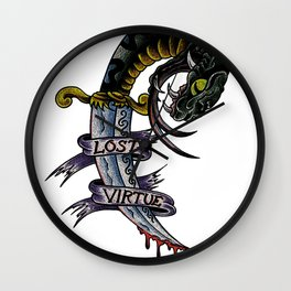 Lost Virtue Wall Clock