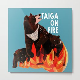 Taiga on fire #3 Metal Print