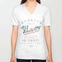 einstein V-neck T-shirts featuring Einstein by vova trinjak