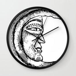 The Moon | Moon Decor | Moon Design | Moon Sketch Wall Clock