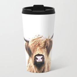 Highland Cow Portrait Travel Mug