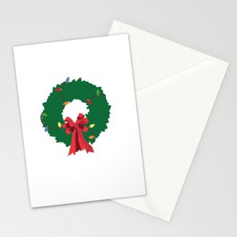 Christmas wreath shirt Stationery Cards