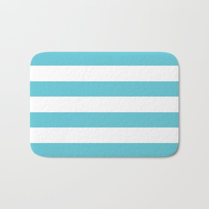 Simply Stripes in Seaside Blue Bath Mat