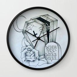 Wish You Were Gone Wall Clock