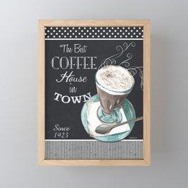 Retro Chalkboard Coffee 2 Framed Mini Art Print