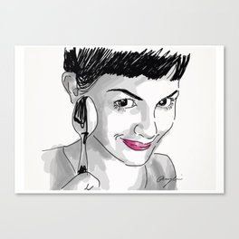Amelie and Spoon. Canvas Print