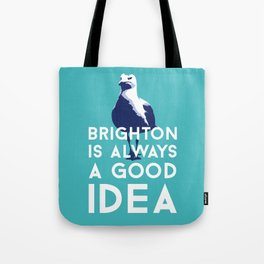 Seagull in Brighton Tote Bag