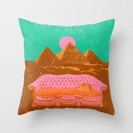 CHILL PYRAMIDS Throw Pillow