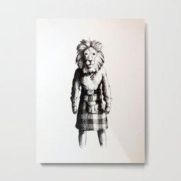 Lion in Kilt (Sketch) Metal Print
