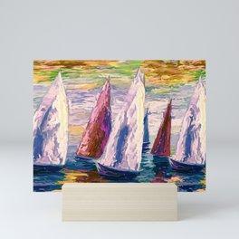Wind on Sails by Lena Owens/OLena Art Mini Art Print
