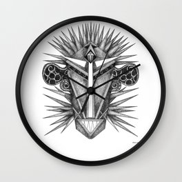 The Blue Cephalopod Man From Titan Wall Clock