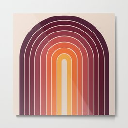 Gradient Arch - Sunset Metal Print